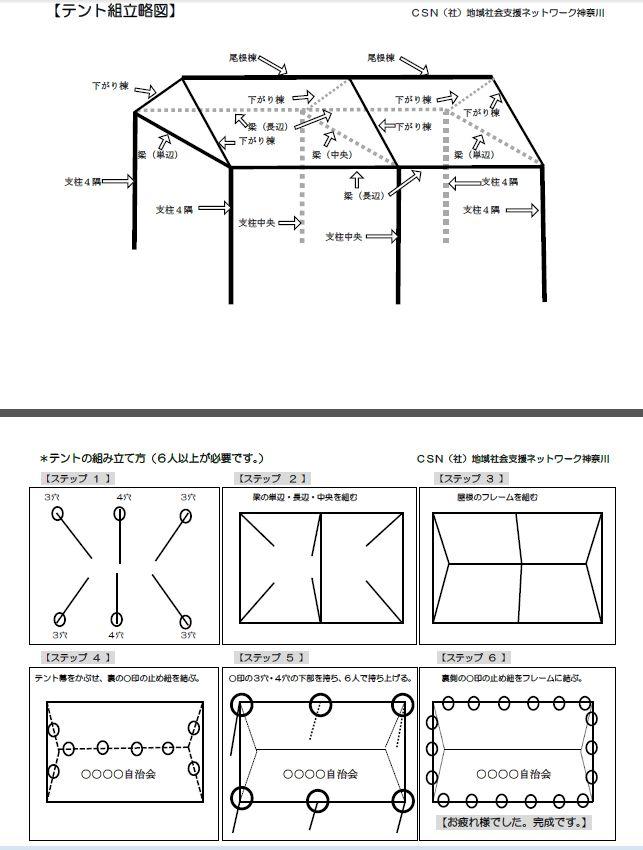 テント組立図